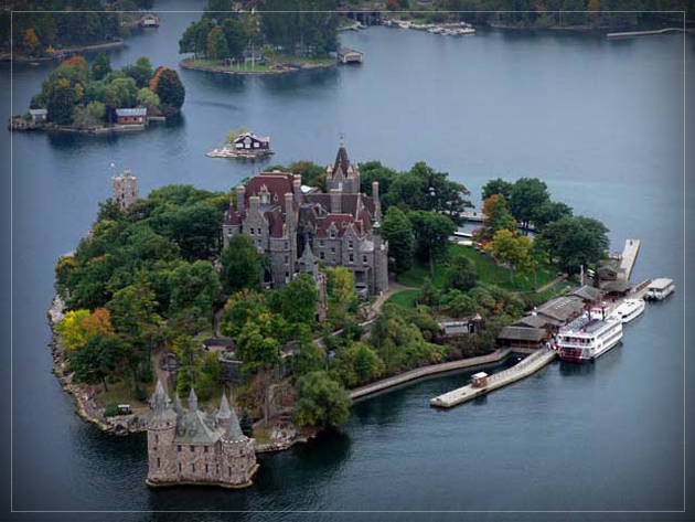 The stunning Boldt Castle in the Thousand Islands, Alexandria Bay, NY.