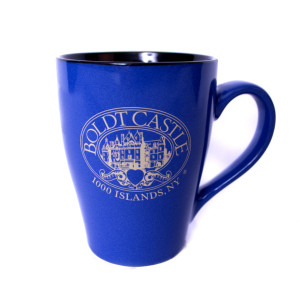 coffee mug logo blue